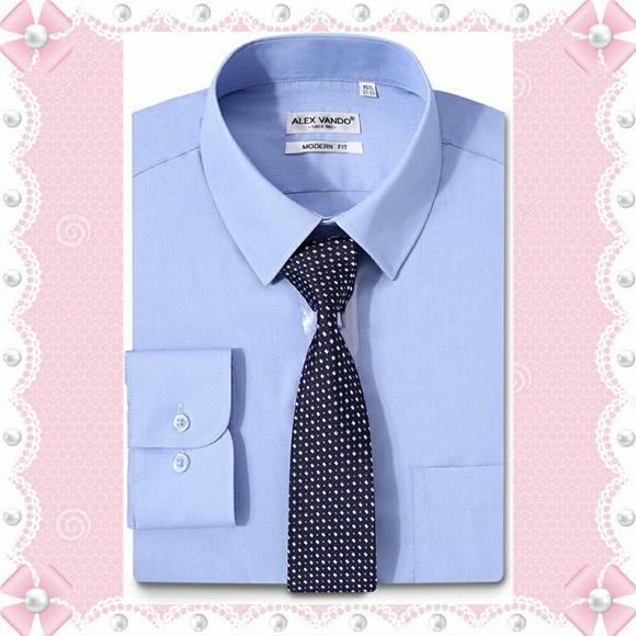 53a3d8eef4e Alex Vando Dress Shirt Long sleeve Blue NWT